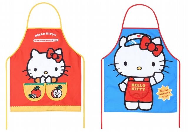 Hello Kitty圍裙手套三件組 990元(紅、藍)