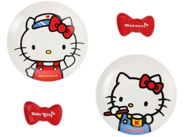 Hello Kitty造型盤碟兩件組 650元(哈囉款、刷牙款)