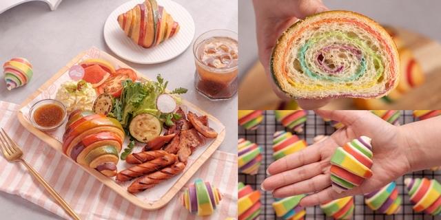 彩虹可頌每天限量20個!Café del SOL 5款早午餐限量升級可頌,加碼五倍券套餐外帶6折