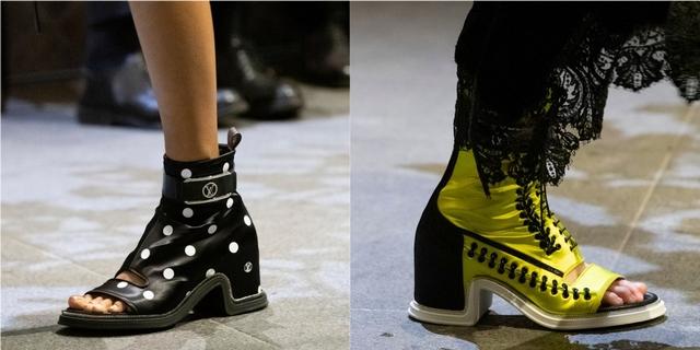 亮點7:個性露趾靴