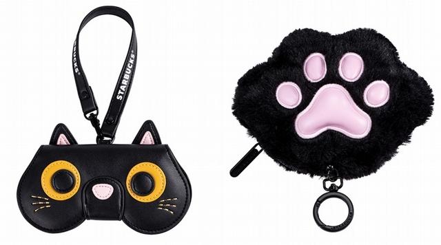個性黑貓眼鏡收納包480元、貓掌造型票卡零錢包400元