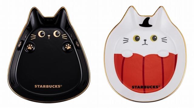 搞怪黑貓盤420元、南瓜小貓盤420元