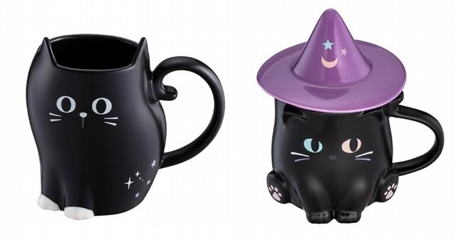 黑貓招喚術馬克杯580元、黑貓魔法帽馬克杯880元