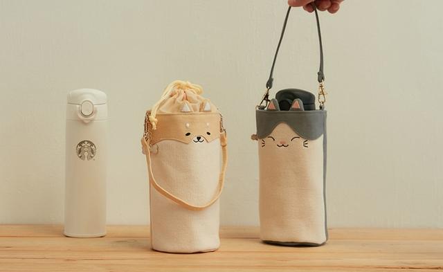 別出星柴隨行杯袋480元、淘氣小貓隨行杯袋480元