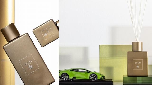 低調奢華半霧金質感,加上苦橙、岩蘭草與雪松的沉穩氣味,同為義大利品牌的Culti Milano和Automobili Lamborghini,香氛火花就是這麼無懈可擊