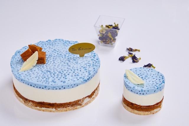 蝶豆花西米露蛋糕
