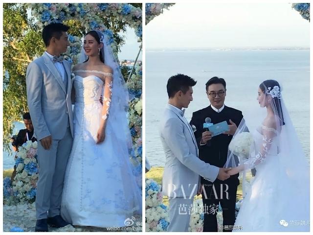 隆詩婚禮:吳奇隆以妻為天 落淚承諾聽詩詩的話