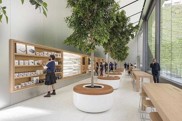 Apple Store舊金山聯合廣場旗艦店  回收能源百分百