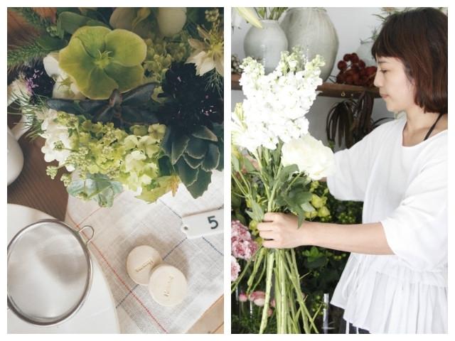 花材烘烤出的夏日涼感咕咕霍夫蛋糕:Nettle Plants X小器 六月花藝課程