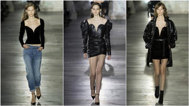 2017春夏巴黎時裝周Saint Laurent強勢冷酷 性感至極的獨立女性