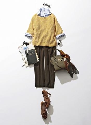 Style2寬袖毛衣 - 展現「正式感」職場穿搭