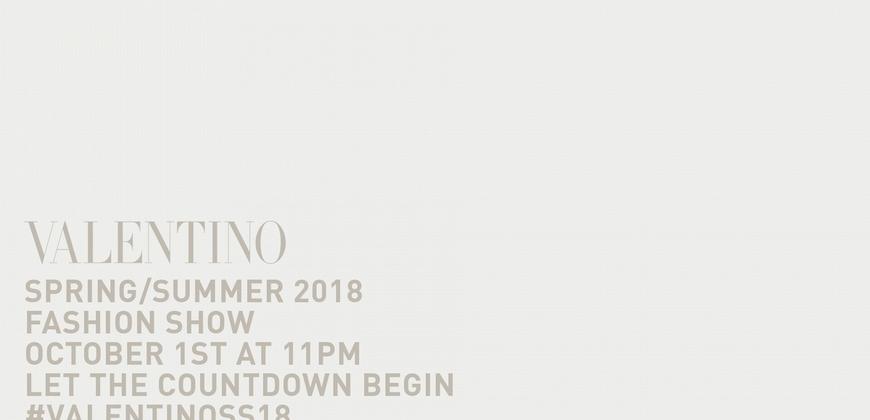 Valentino 2018 春夏女裝秀線上直播