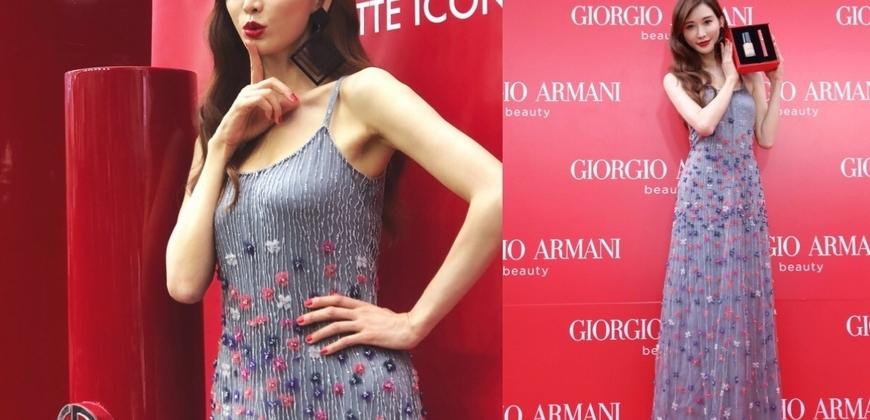 林志玲擦「亞曼尼紅400」公開現身台北東區街頭,回應「懷孕說」