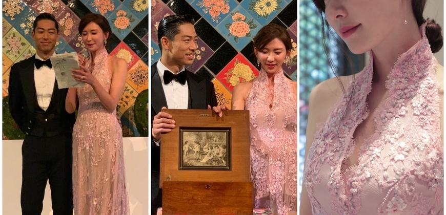 林志玲大婚!壓軸選穿夏姿中式禮服優雅送客,暈染幸福的浪漫氛圍