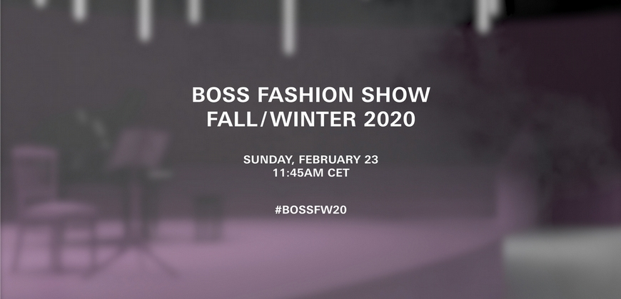 BOSS 2020 秋冬米蘭時裝秀零時差線上直播