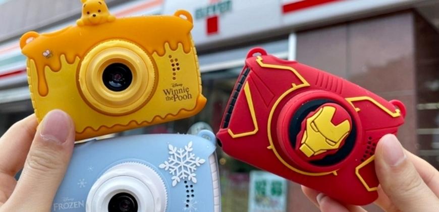 7-11鋼鐵人、冰雪奇緣、小熊維尼兒童數位相機 內建20款經典濾鏡附贈超可愛角色相機包