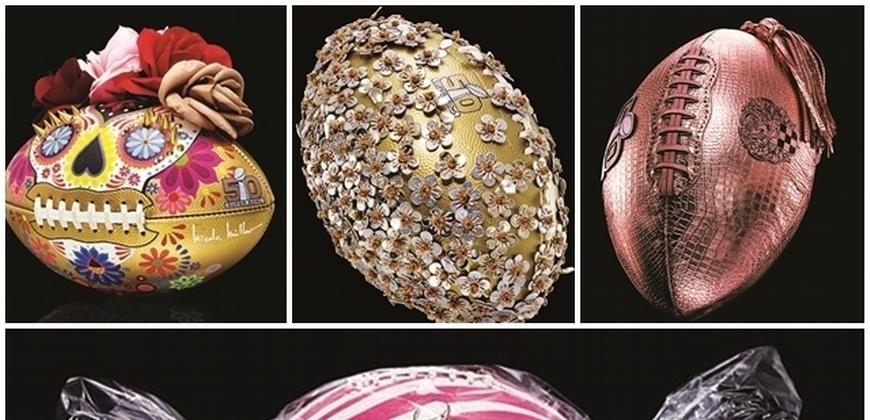 超級盃 50 周年不只碧昂絲、Coldplay!50 顆精品高級訂製橄欖球氣派亮相